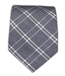 Big Shot Neckwear - Linen Blend Gravel Plaid Tie