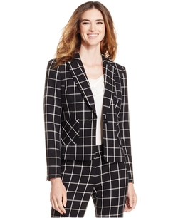 Nine West - Printed One-Button Jacket