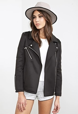 Forever 21 - Scuba Knit Moto Jacket