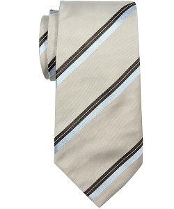 Valentino - Taupe Stripe Tie