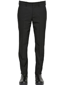 Neil Barrett  - Stretch Light Wool Gabardine Pants