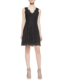 Joie  - Nikolina Sleeveless Lace A-Line Dress