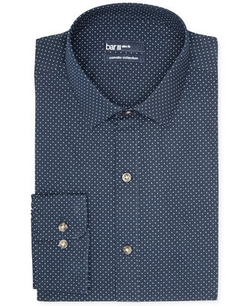 Bar III - White Dot Print Dress Shirt
