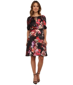 Adrianna Papell - Blouson Floral Dress