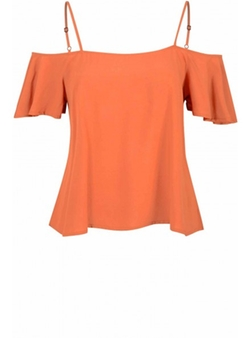 Glamorous - Rust Off The Shoulder Top
