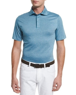 Ermenegildo Zegna  - Stretch-Cotton Polo Shirt