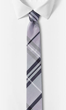 Express - Reversible Plaid To Solid Tie