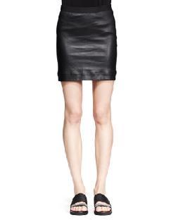 Helmut Lang - Plonge Leather Pencil Skirt