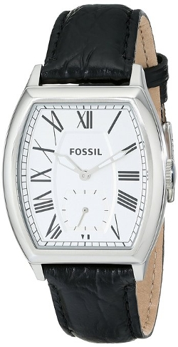 Fossil  - Narrator Two-Hand Leather Watch
