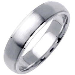 Wedding Rings Depot - Platinum Plain Pattern Wedding Band