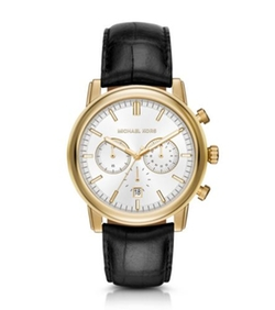 Michael Kors - Pennant Gold-Tone And Leather Watch