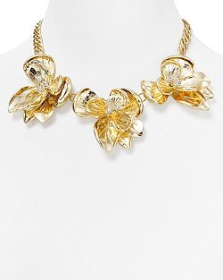 Lydell NYC -  Floral Bib Necklace