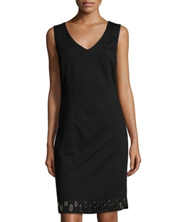 Laundry by Shelli Segal  - Grommet-Hem V-Neck Sleeveless Dress
