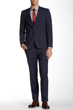 Vince Camuto - Two Button Notch Lapel Wool Blend Suit