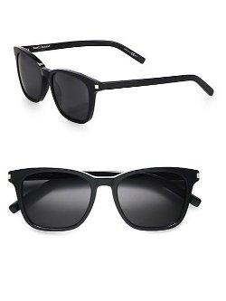 Saint Laurent  - Acetate Wayfarer Sunglasse