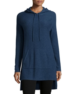 Neiman Marcus Cashmere Collection - Cashmere Kangaroo-Pocket Hoodie