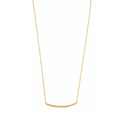 Gorjana  - Taner Pave Bar Necklace