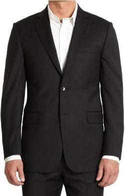 Saks Fifth Avenue BLACK - Classic-Fit Pinstripe Suit