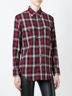 Saint Laurent - Plaid Print Western Shirt