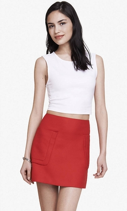 Express - Stretch Cotton Cropped Tank Top