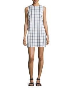 Theory  - Adraya Lustrate Plaid Shift Dress