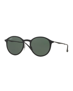 Ray-Ban - Round Metal-Arm Sunglasses