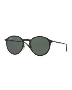 Ray-Ban - Round Metal-Arm Sunglasses
