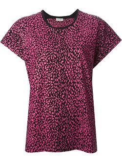 Saint Laurent - Leopard Print T-shirt