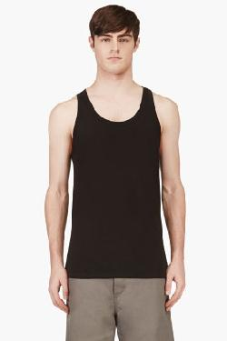 CALVIN KLEIN UNDERWEAR - BLACK COTTON TANK TOP THREE-PACK