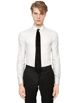 EMPORIO ARMANI  - SLIM FIT MICRO FANCY COTTON SHIRT