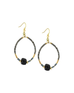 Nakamol - Beaded Teardrop Hoop Drop Earrings