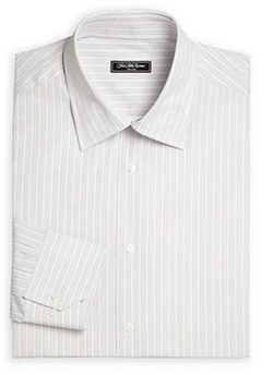 Saks Fifth Avenue Collection - Bridge Striped Dress Shirt
