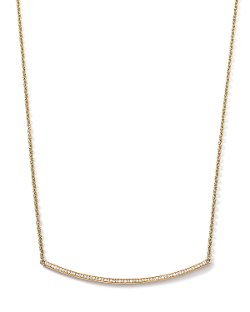 Ippolita - Gold Stardust Curved Stick Necklace with Diamonds