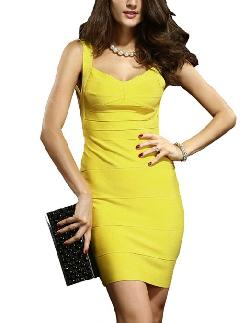 Senfloco  - Sexy Backless Celebrity Bandage Bodycon Cocktail Party Evening Casual Dress