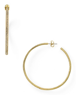 Nadri  - Large In and Out Hoop Earrings