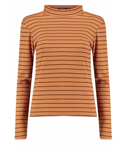 Boohoo - Maisie Stripe Turtle Neck Rib Knit Jumper
