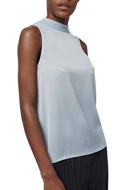 Topshop -  High Neck Satin Top