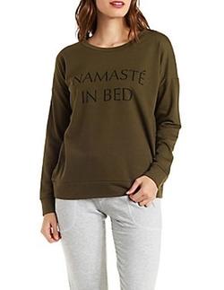 Charlotte Russe - Graphic Pullover Sweatshirt