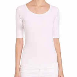 Saks Fifth Avenue x Majestic Filatures - Soft Touch Scoop Tee
