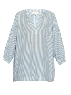 The Great - Easy Cotton & Linen-Blend Top
