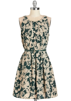 ModCloth - Great Wavelengths Dress in Green Floral