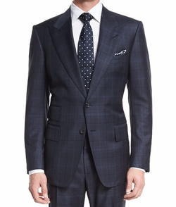 Tom Ford - Windsor Base Over-Plaid Two-Piece Suit