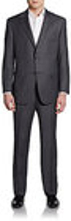 Hickey Freeman  - Worsted Wool Two-Button Classic-FIt Suit