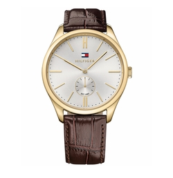 Tommy Hilfiger - Croc-Embossed Leather Strap Watch