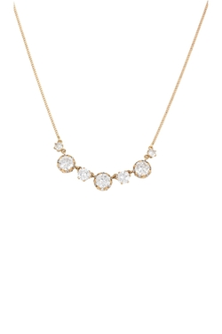 Betsey Johnson  - Alternating CZ Crystal Necklace