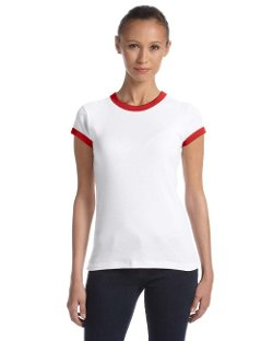 Bella  - Baby Rib Short Sleeve Ringer T-Shirt