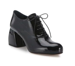 Miu Miu - Patent Leather Block-Heel Oxford Pumps