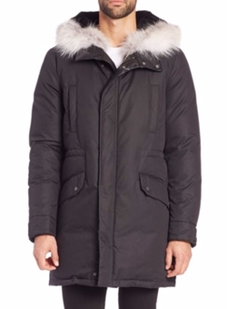 Yves Salomon - Fur-Trimmed Techno Cotton Puffer Jacket