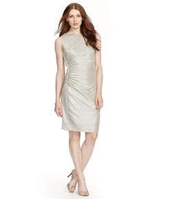 Lauren Ralph Lauren - Ruched Metallic Sheath Dress