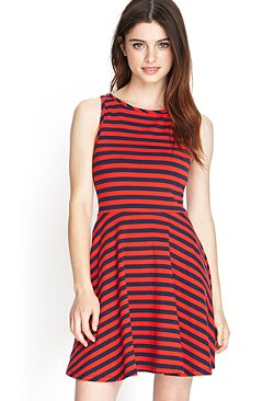 Forever21 - Striped A-line Dress